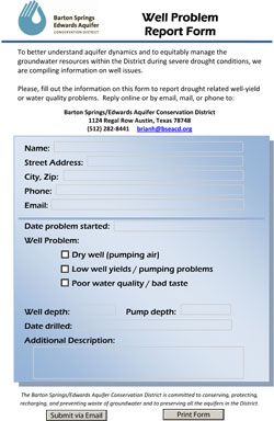 Dry Well Report Form