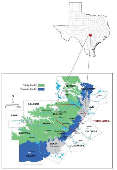 Edwards Trinity Map