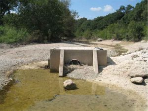 BMP over Antioch Cave on Onion Creek