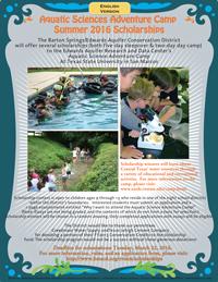 aquatic camp flyer