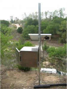 Instrument enclosure for Continuous Water Quality Monitoring Network